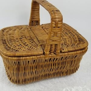 Small wicker picnic basket